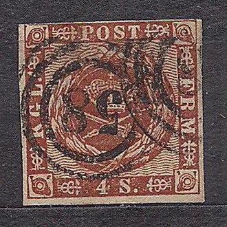 Немецкие земли, Scleswig-Holstein, 1864 г.,  марка № 7, Датская почтовая администрация