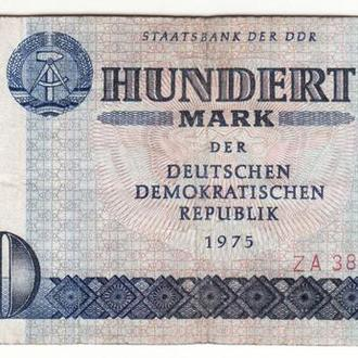 ГДР 100 марок Карл Маркс замещение 1975