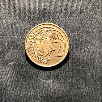 Новая Зеландия 2 цента 1967 Первый год
