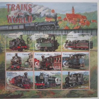 Танзания 1995г.** жд транспорт паровозы поезда