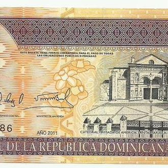 Доминикана 50 песо 2011г. UNC
