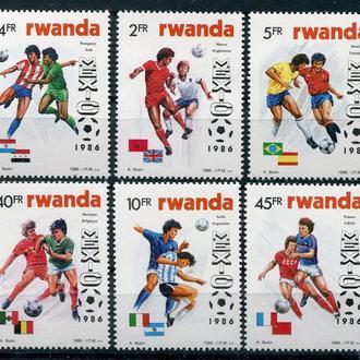 Футбол ЧМ Мексика 1986 Руанда MNH мих.6-50евро
