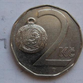 ЧЕХИЯ, 2 кроны 1993 года.
