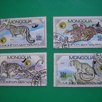 Монголия 1985   Животные *  полн. сер.