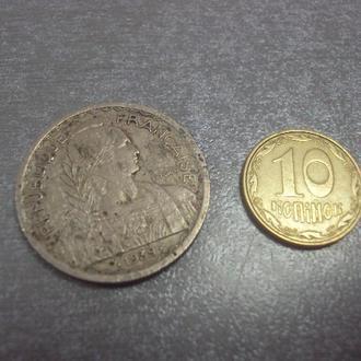 монета французский индокитай 20 сентимо 1939 №1126