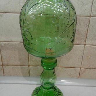 Старинная Лампа-ночник! Цветное стекло. Италия.