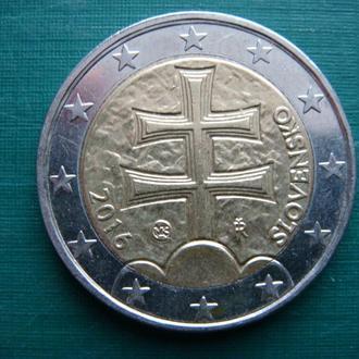 Словакия 2 евро 2016