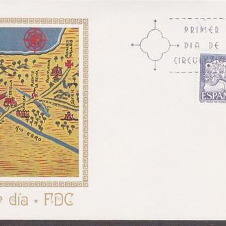 Испания 1971 СВЯТОЙ ЯКОВ КОМПОСТЕЛЛА РЕЛИГИЯ КАРТА КАРТОГРАФИЯ ТОПОГРАФИЯ КПД Mi.1942