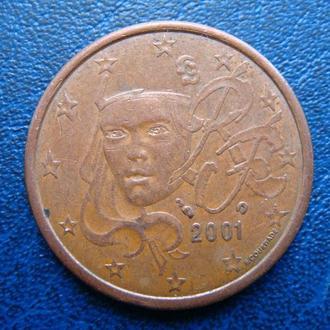 Италия 5 центов 2001