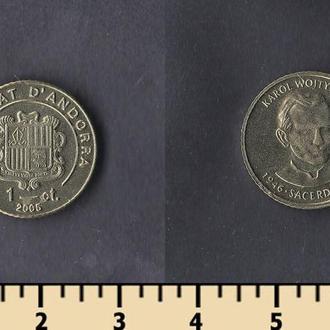 Андорра 1 сентим 2005