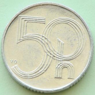 (А) Чехия 50 геллеров, 1993 -замок-