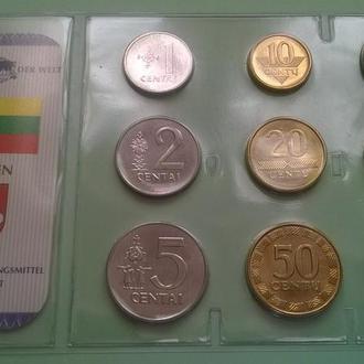 Набор монет ЛИТВА запайка набір блистер пластик серия DAS GELD DER WELT