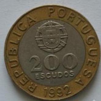 200 эскудо 1992 год Португалия