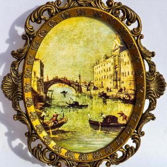 Коллекционная восхитительная картина- панно! Барокко! Рамка для фото! ITALY!