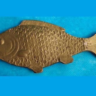 Елочная игрушка  Золотая рыбка 30 годы объемная картон (5К)
