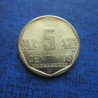 Монета 5 сентимо Перу 2002