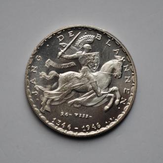 Люксембург 20 франков 1946 г., UNC, '600 лет со дня смерти Иоганна Люксембургского'