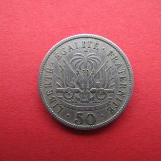 50 Сентимо 1908,(15) Гаити