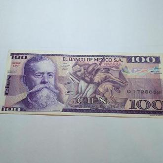 100 песо, Мексика, оригінал, пресс, unc