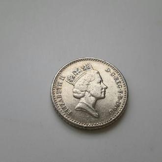 Великобритания. 5 пенсов  1990 год.