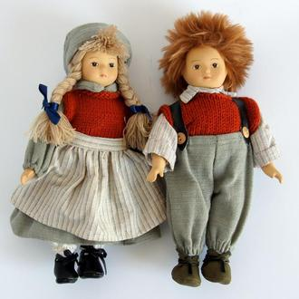 Антикварные фарфоровые куклы Братик и Сестричка 1970-е Germany