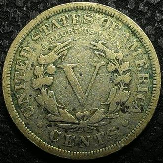 США 5 центов  1903 год