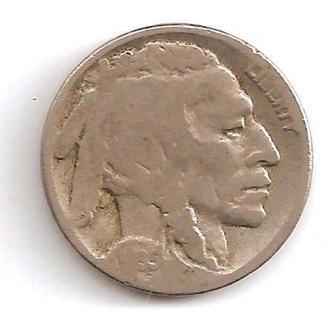 Монета 5 центов (США) 1935 Бизон (Индеец) (1)