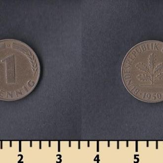 ФРГ 1 пфеннинг 1950