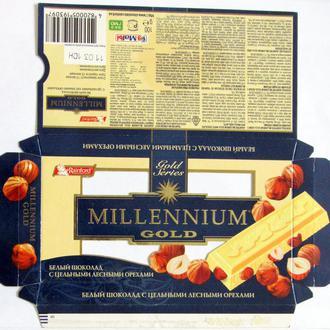 Обёртка от шоколада  Millenium gold 100 г 2009 год