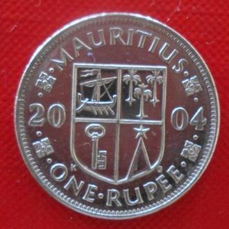 Маврикий 1 рупия 2004 год.