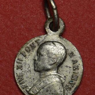 Медальйон Ватикан PIUS·XII·PONT·MAX Santa Maria (0.6г) (10mm)  B173