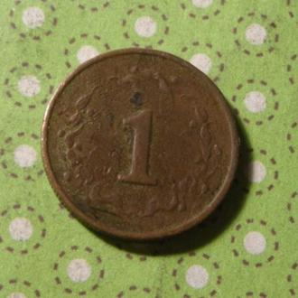 Зимбабве 1980 год монета 1 цент !