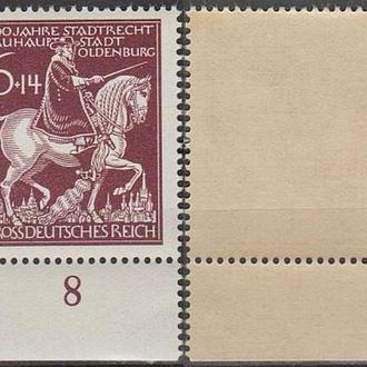 1945 - Рейх - 600 лет Олденбурга Mi.907 _Поле **