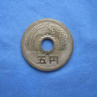 Япония 5 иен 1974 год