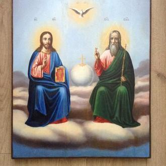 Икона. Троица. Отец, Сын и Дух Святой.