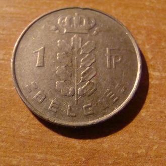 Бельгия 1 франк 1962