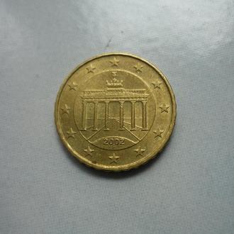 ФРГ 10 евроцентов 2002 F
