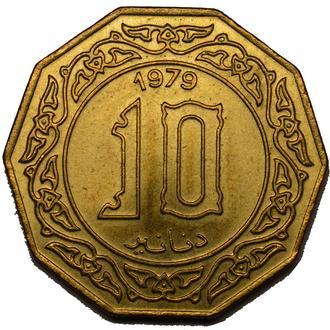 Алжир 10 Dinars 1979     #73