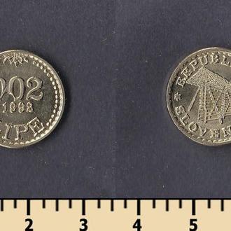 СЛОВЕНИЯ 0,02 ЛИПА 1992