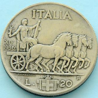 Италия 20 лир, 1936