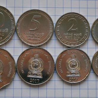 Шри Ланка набор монет 4 шт, 2017, анц