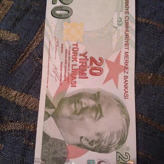 20 лир Турция, unc!