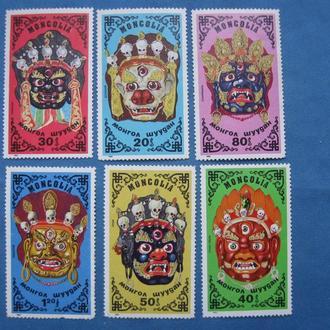 Монголия 1984 год Монгольские танцевальные маски
