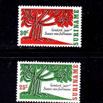 Суринам  1966 г  MNH - п/с - флора -