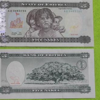 Эритрея 5 накфа 1997 UNC