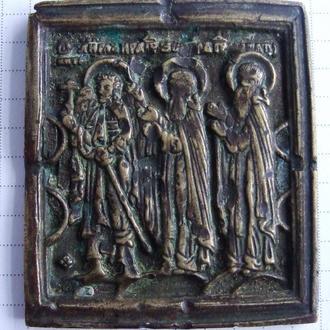 Иконка Ангел-хранитель, Преподобные Зосима и Севатий Соловецкий