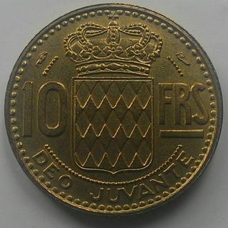 Монако 10 франков 1951 СОСТОЯНИЕ!!!
