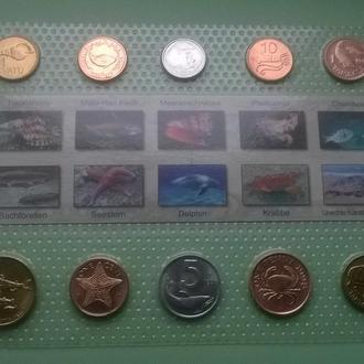 Набор монет ЖИТЕЛИ МОРЯ блистер запайка набір ЖИТЕЛІ МОРЯ пластик