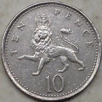 Англия. 10 пенсов 1992.