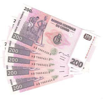 Конго ДР 200 франков 2007 г. в  UNC из пачки